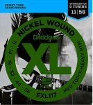 D'Addario EXL117 Nickel Wound, Medium Top, XHeavy Bottom, 11-56