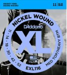 D'Addario EXL116 Nickel Wound, Medium Top, Heavy Bottom, 11-52