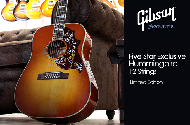 Gibson Five Star Exclusive Hummingbird 12-Strings