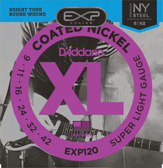 D\'Addario EXP120 Coated Nickel Wound Super Light 0.9/0.42