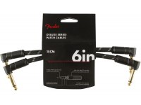 Fender Deluxe Series 2-Pack Patch Cables - 15cm - BK