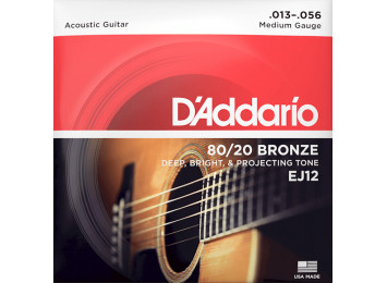 D'Addario EJ12 80/20 Bronze, Light, 13-56