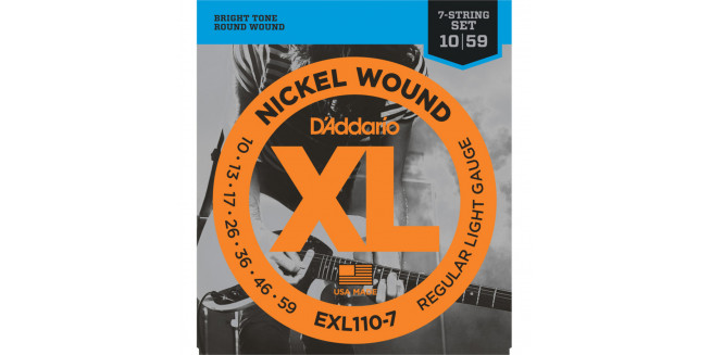 D'Addario EXL110-7 Nickel  Wound, Reguar Light, 7 String, 10-59