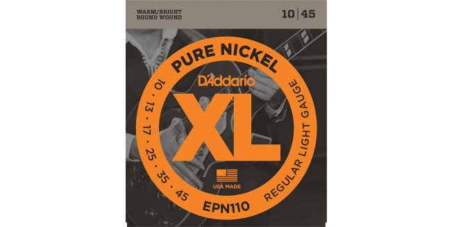 D'Addario EPN110 Pure Nickel, Regular Light, 10-45