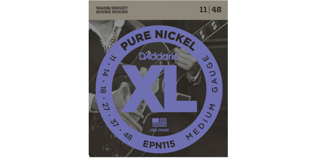 D'Addario EPN115 Pure Nickel, Blues/Jazz Rock, 11-48
