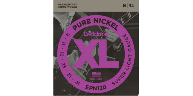 D'Addario EPN120 Pure Nickel, Super Light, 9-41