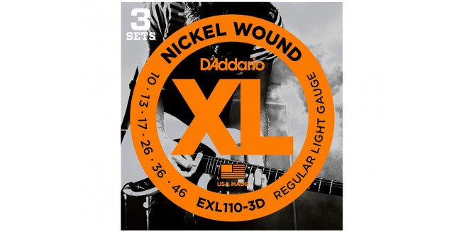 D'Addario EXL110-3D Nickel Wound, Regular Light, 10-46