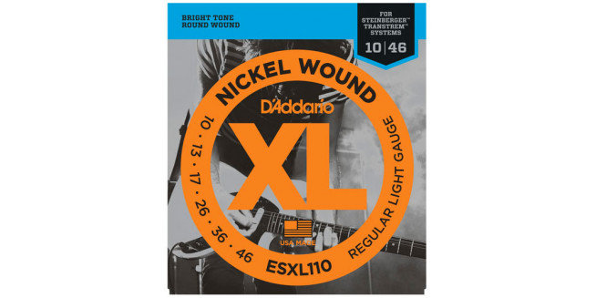 D'Addario ESXL110 Nickel Wound, Double BallEnd, 10-46