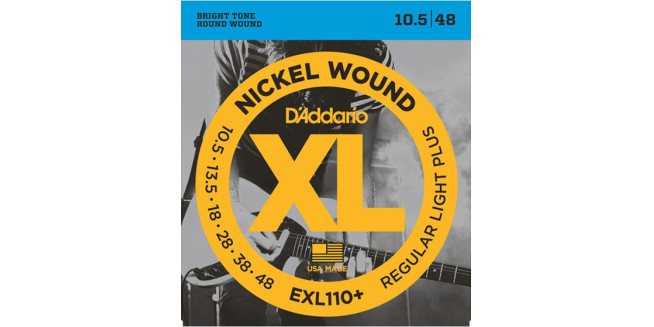 D'Addario EXL110+ Nickel Wound, Regular Light Plus, 10.5-48