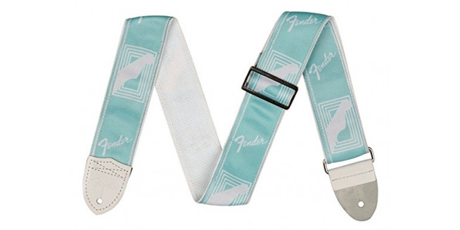 "Fender 2"" Custom Color Monogrammed Strap - DBL"