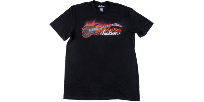 Jackson Red Crackle T-Shirt - L