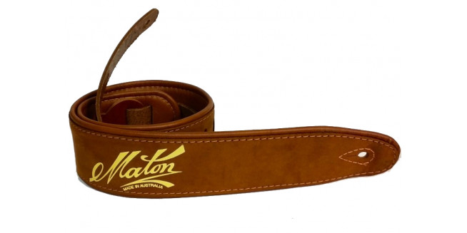 Maton Deluxe Leather Guitar Strap - BR
