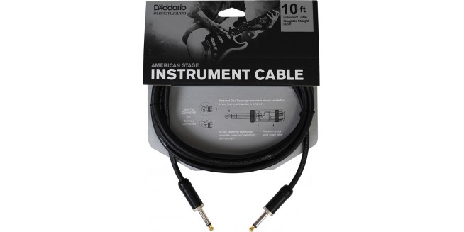 D'Addario American Stage Instrument Cable - 3m