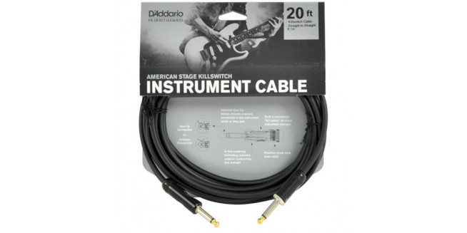 D'Addario American Stage Instrument Cable - 6m