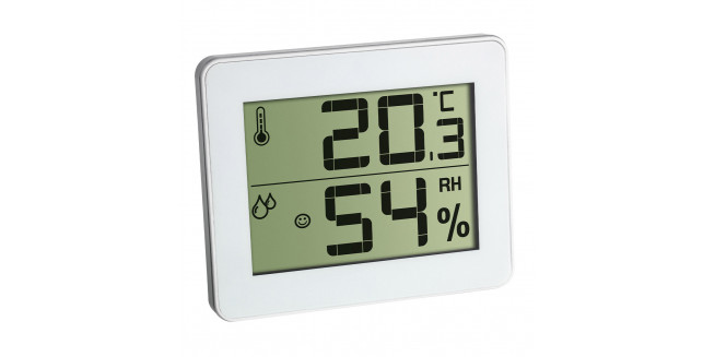 TFA Digital Thermo-Hygrometer Flat Design - WH