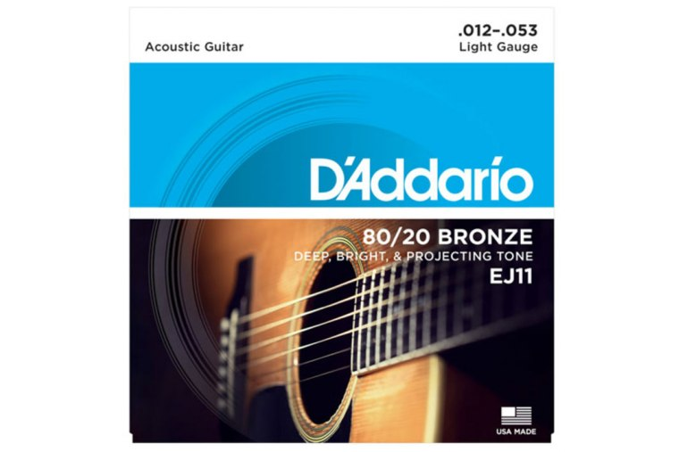 D'Addario EJ11 80/20 Bronze, Light, 12-53