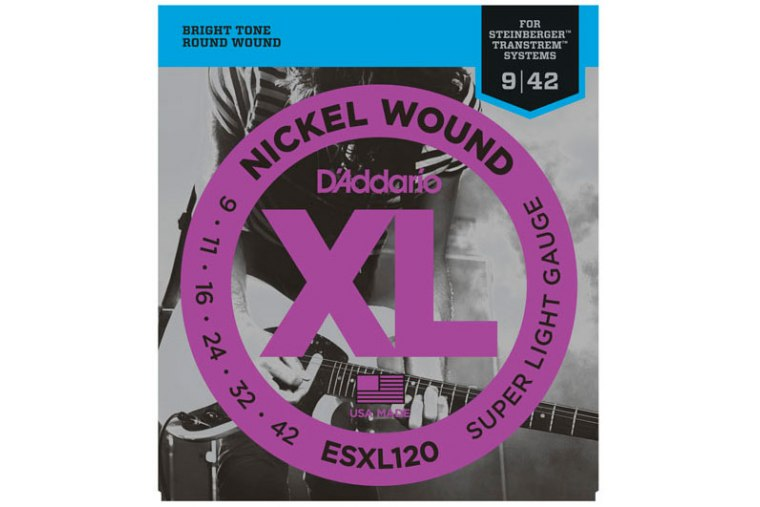 D'Addario ESXL120 Nickel Wound, Double BallEnd, 09-42