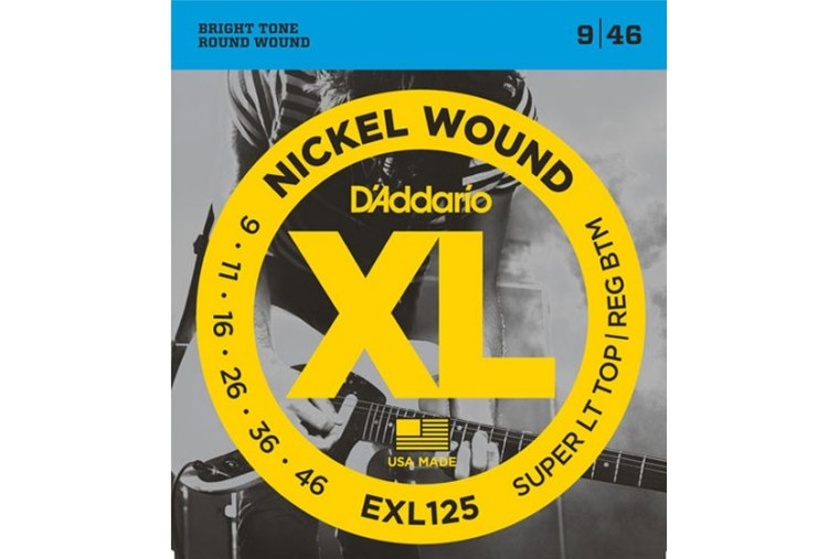 D'Addario EXL125 Nickel Wound, Super Light Top Regular, 9-46