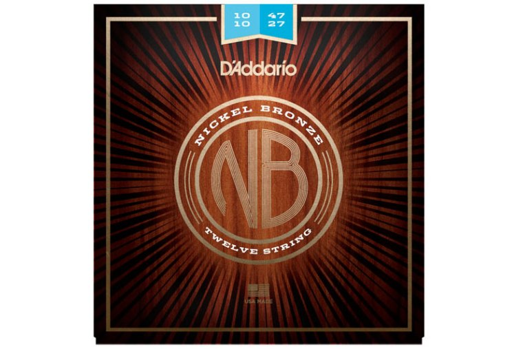 D'Addario NB1047-12 Nickel Bronze, 12-String, 10-47