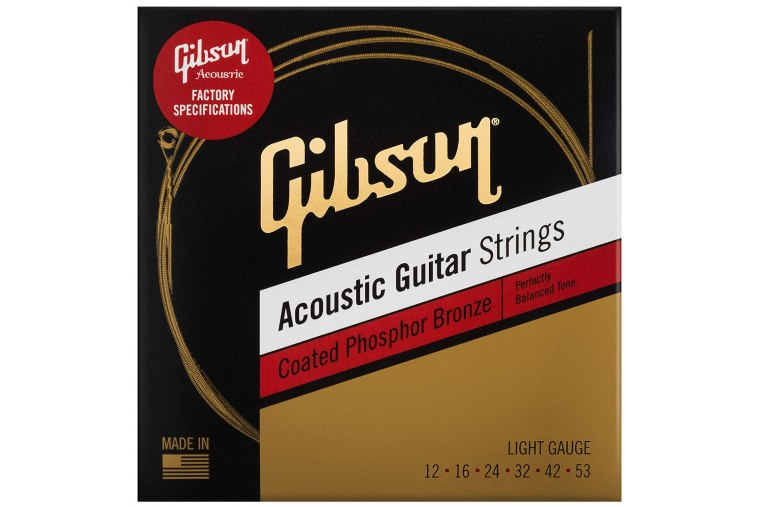 Gibson Coated Phosphor Bronze Acoustic Guitar Strings 12/53