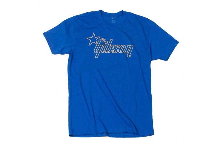 Gibson Star Logo Blue T-Shirt - S