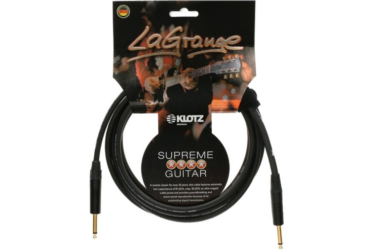 Klotz LaGrange Guitar Cable Gold Tip - 3m