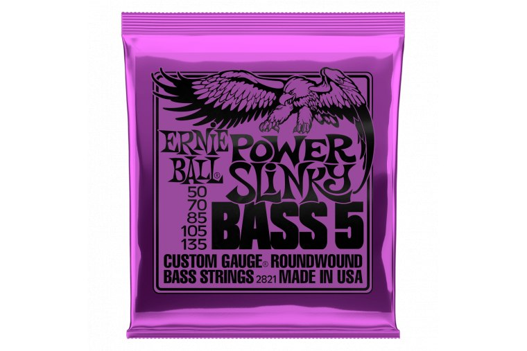 Ernie Ball 2821 Nickel Wound 5-Strings Power Slinky 50/135